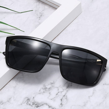 HUHAITANG Fashion Men Square Sunglasses Mens Outdoor Driving Sunglases 2019 Luxury Brand Designer Oversized Sun Glasses For Man 1