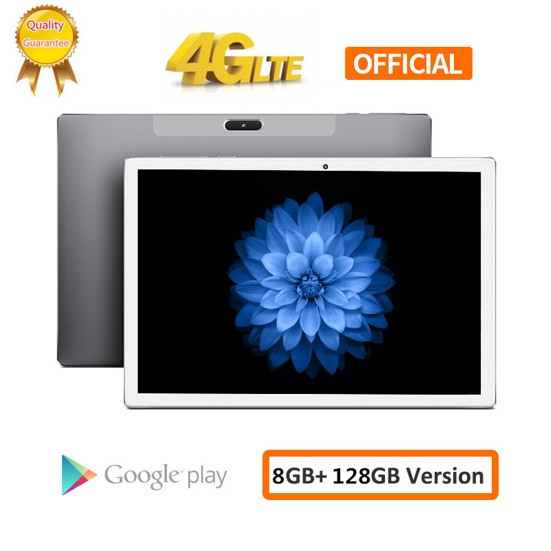S119 Big Battery 8000mAH 128G 4G LTE FDD 10.1 Inch 2.5D Tablet Pc 10 Deca Core MTK6797 8GB RAM 128GB ROM 1920*1200  Android 8.0