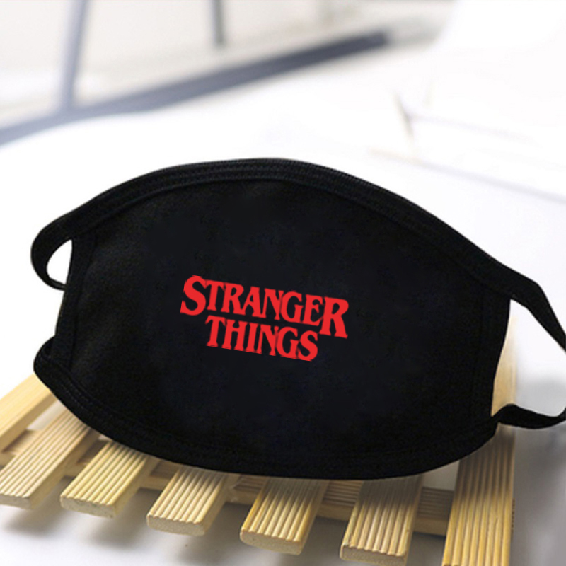 Unisex Stranger Things Print Masks High Quality Dustproof Mouth Muffle Masks Washable Reusable Black Mask Fashion Masks Mask