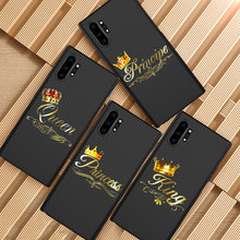 Capa de celular golden king da princesa, para samsung galaxy s6 s7 edge s8 s9 s10 lite s20 ultra note 8 9 10 plus m10 m20 m30 m40(China)