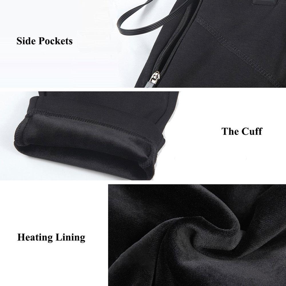 Aquecimento elétrico calças calças aquecimento roupa térmica
