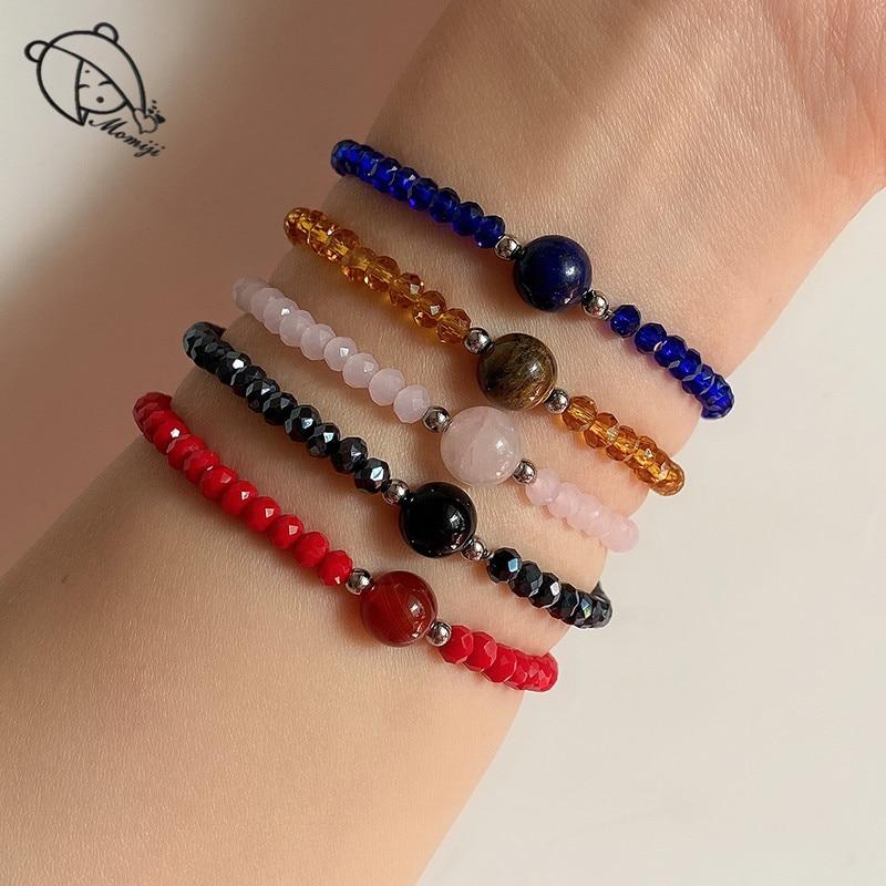 Браслеты Momiji ручной работы из бисера, браслеты для женщин, ювелирные изделия из натурального камня, богемный тигр, хрустальные бусины, амуле...