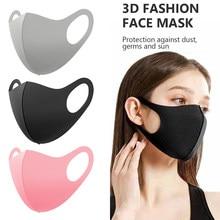 Máscara de seda de gelo rosa à prova de poeira reutilizável facesmask à prova de vento respirável máscara protetora rosto lavável unisex máscaras de boca