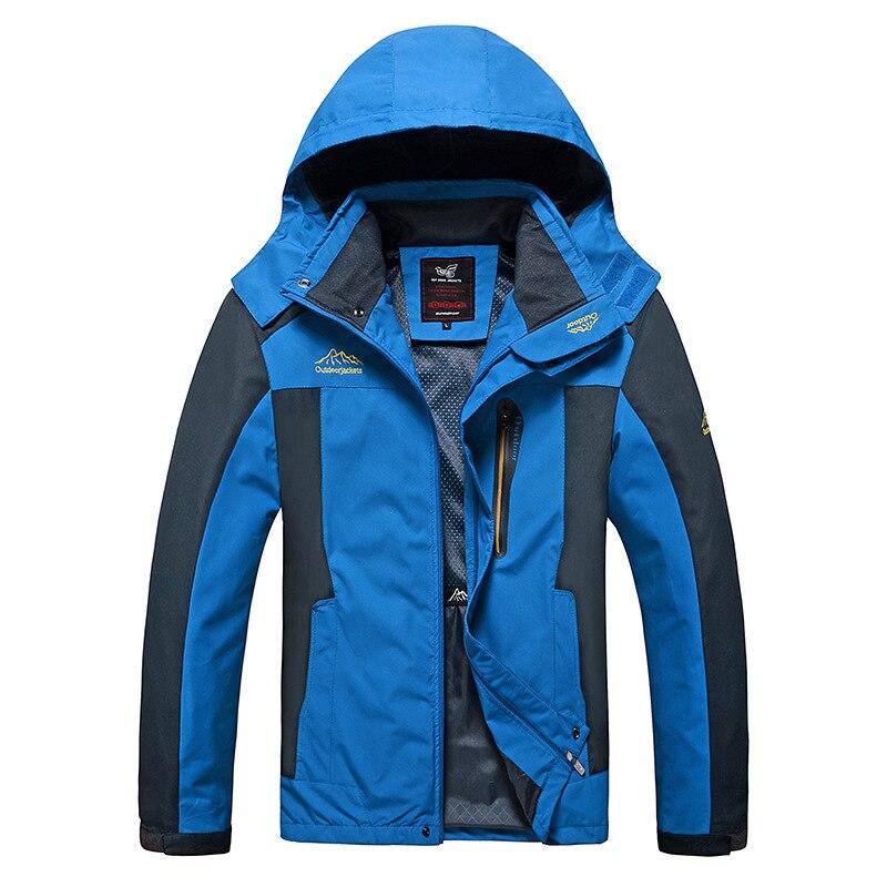 Image 3 - Autumn Men Windbreaker Male Windproof Waterproof Hood Jacket Plus  Big Size 5XL 6XL 8XL 9xl Man Coat Work Clothing Outwearmen coat  autumnmen coathooded jacket
