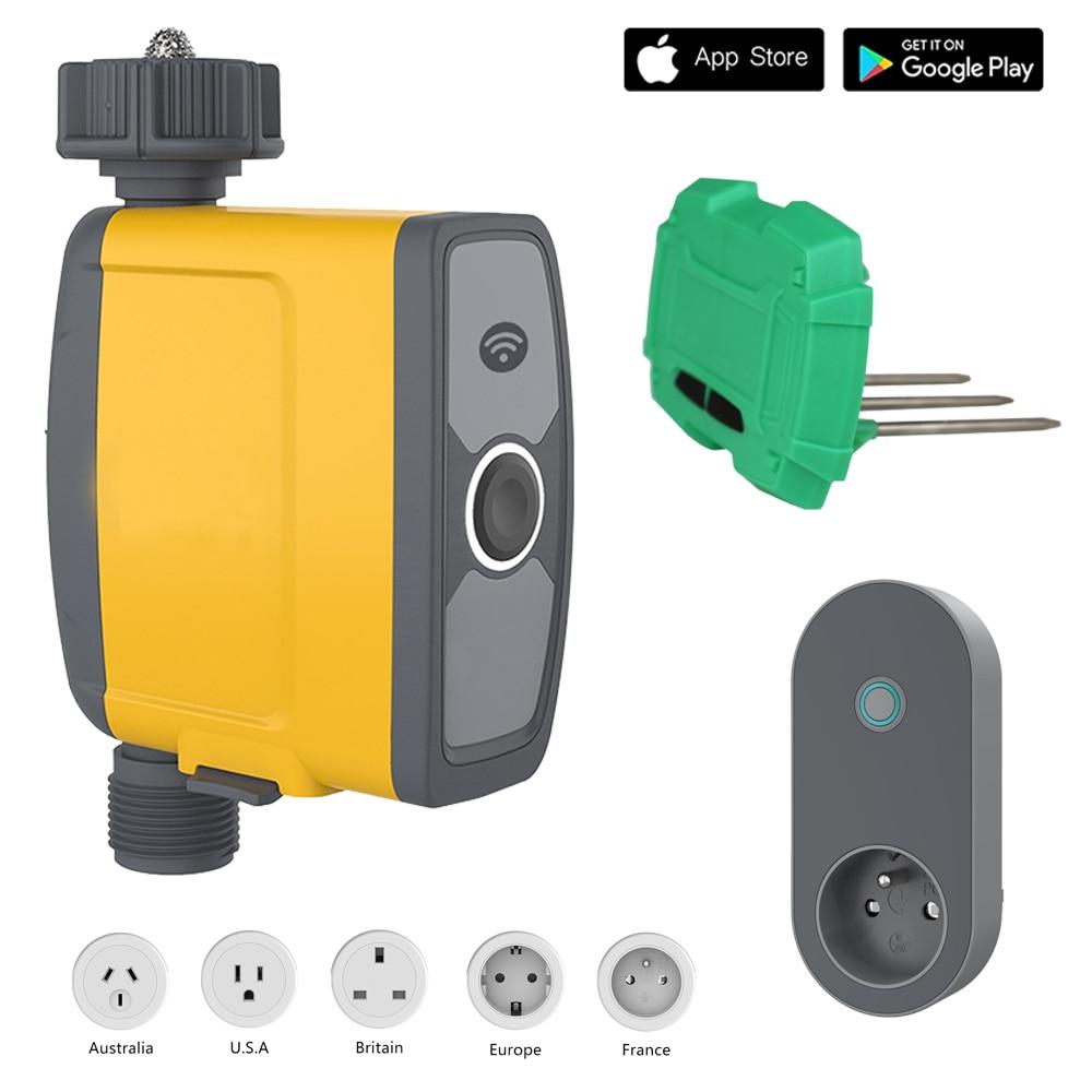 WIFI Connection Automatic Smart Irrigation System Watering Timer Soil Moisture Sensor Garden Irrigation Controller