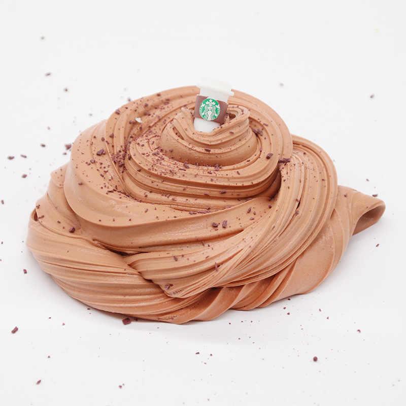 200 مللي القهوة كوب رقيق الوحل سحابة الوحل النمذجة كلاي قوس قزح الوحل لعبة للأطفال الأطفال لينة المخلص Lizun Floame