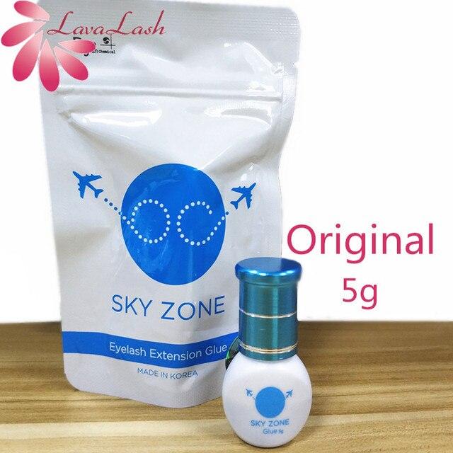 Бесплатная доставка, оригинальный корейский клей для наращивания ресниц Sky Zone, 5 мл, 1 бутылка, накладные ресницы, черный клей для макияжа, косметические инструменты