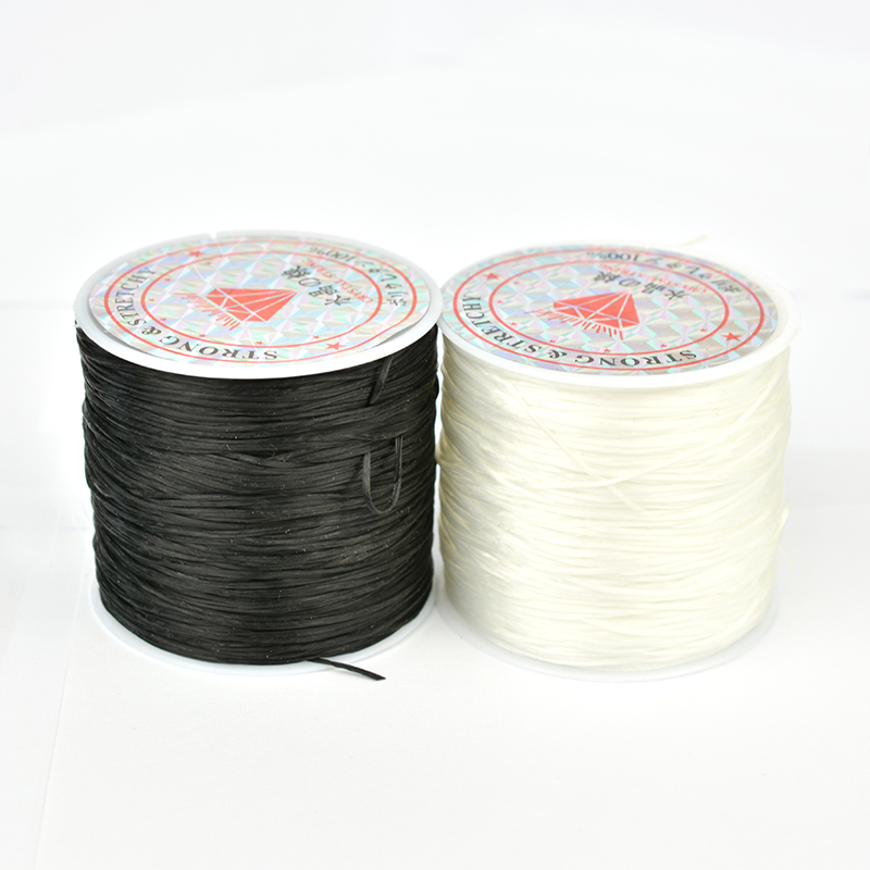 50m DIY Stretchy Cord Elastic Line Transparent Clear Beading Wire Thread Jewelry Making Accessories Bracelet