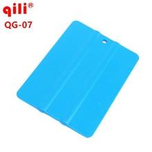100pcs/lot Qili QG-07 Blue Soft Square Squeegee Mini Squeegee Vinyl Wrapping Tool Card Scraper Mobile Phone Film Install Tool