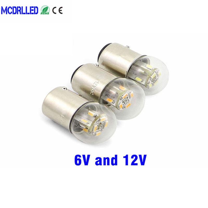 6v светодиодные фары мотоцикла G18 R5w 12v авто лампы оборудование индикатор Smd 3014 чипы сигнальные лампы сзади