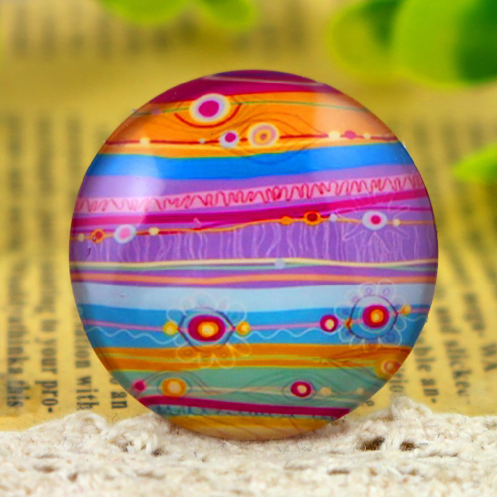 3pcs 30mm Handmade Photo Glass Cabochons (I5-27)