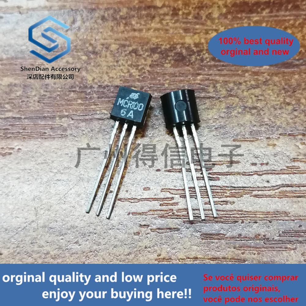 50pcs 100% Orginal New MCR100-6A MCR100 Triac Trigger TO-92 Real Photo