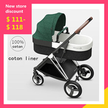 цена на luxurious 2 in 1 Baby Stroller High landscape Light Folding Pram Can Sit Can Lie Ultra-light Portable 4 Wheel Baby Carriage