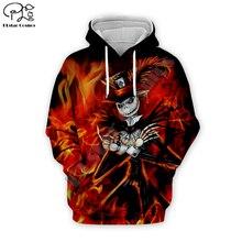Fire Jack Skelling print Men 3d Hoodies skull Halloween costumes women Sweatshirt tshirt pullover Christmas Corpse Bride zipper