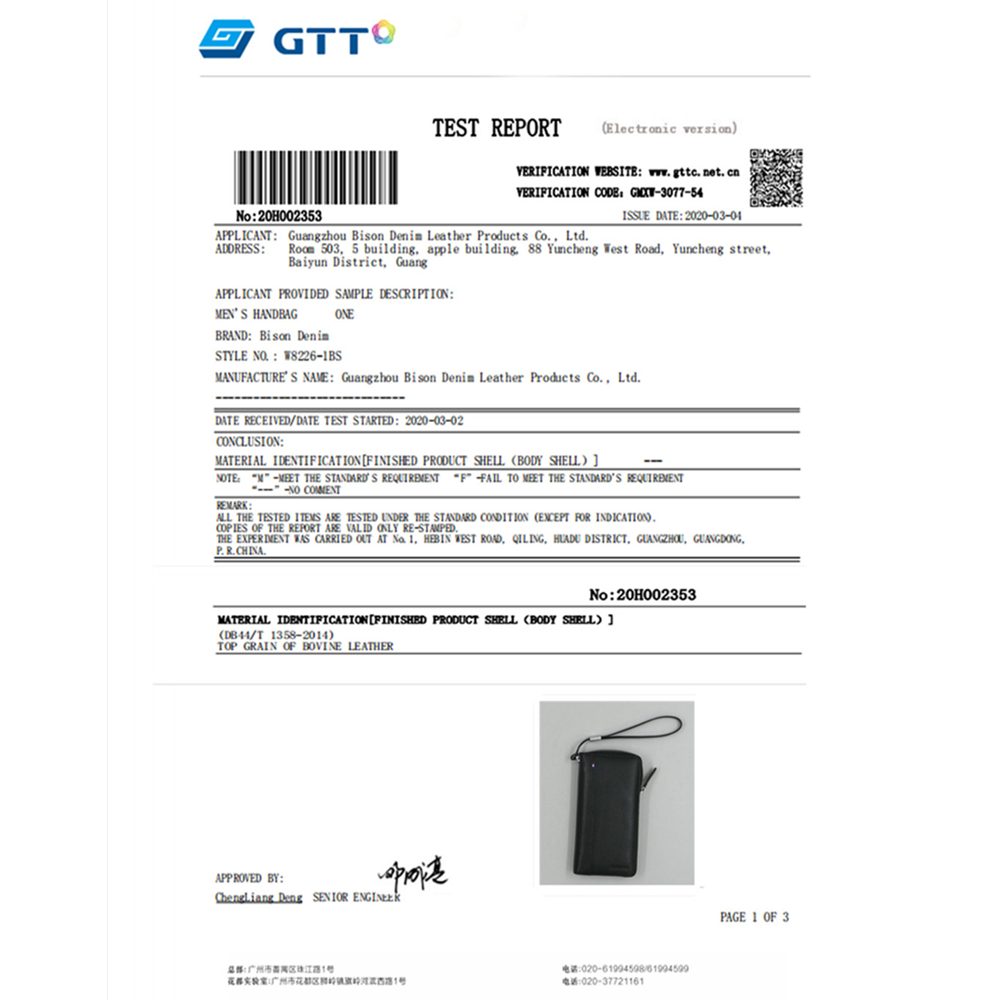 BISON DENIM en cuir véritable RFID blocage 6