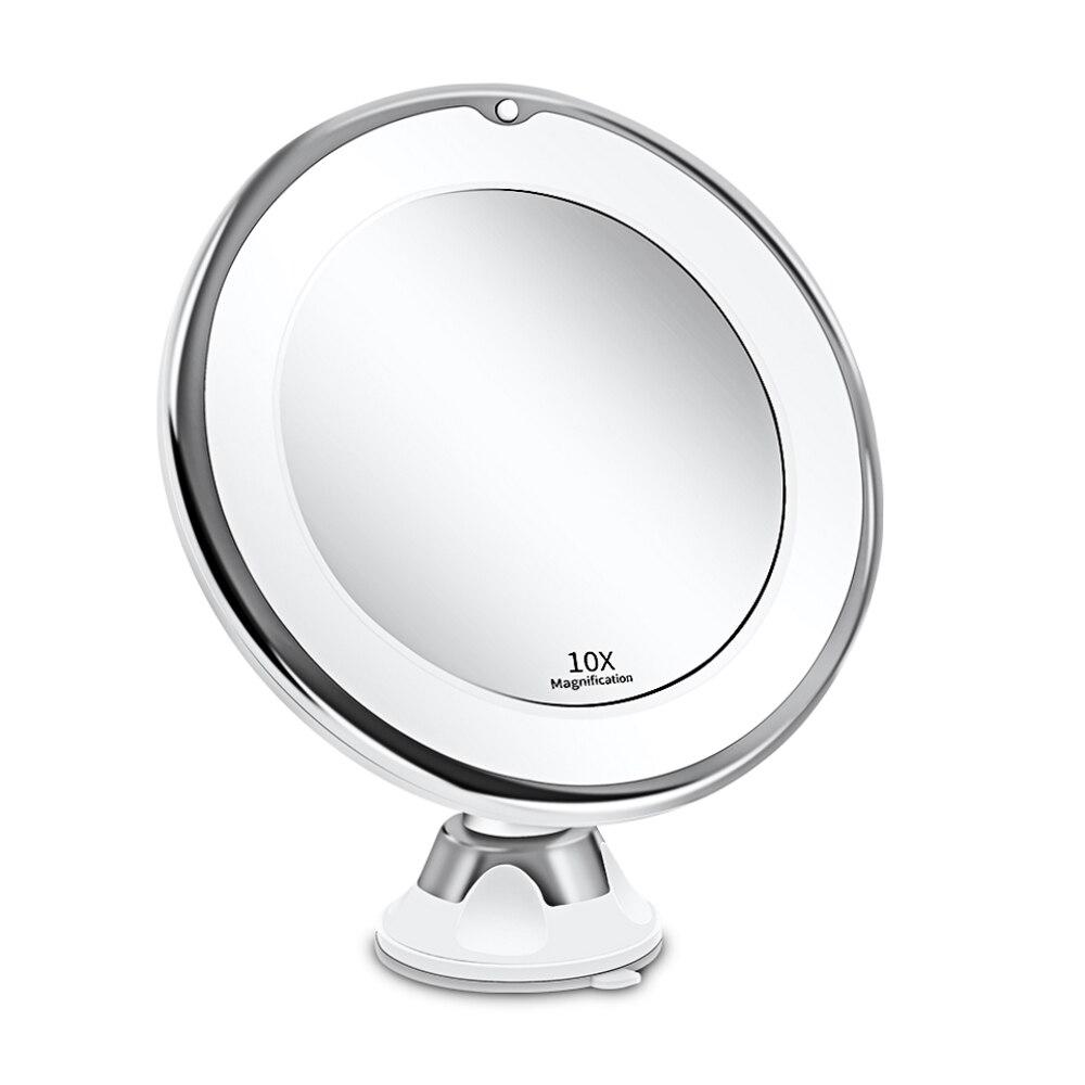 ماكياج الغرور ضوء 10X مكبرة طاولة مرآة مصباح الغرور ديكور مجموعة ميسا دي Maquillaje هوليوود LED مرآة دائرة ضوء أدوات