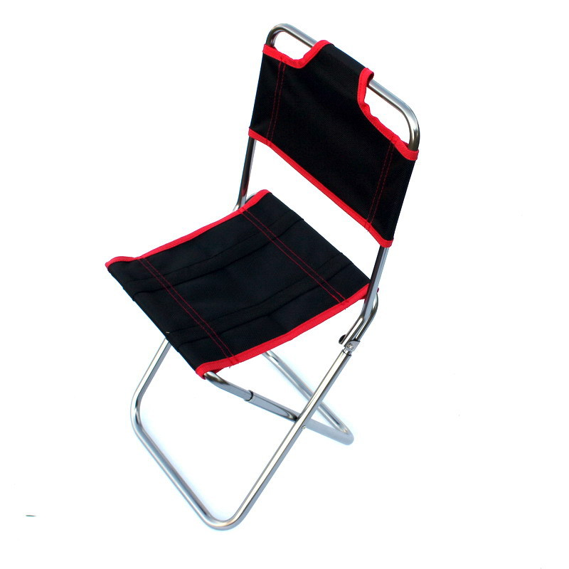 Outdoor Aluminium Alloy Folding Chair Portable Ultra-Light Armchair Fishing Folding Stool Train Portable