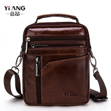 YI'ANG Brand Genuine Leather Men's Crossbody Shoulder Bag Me