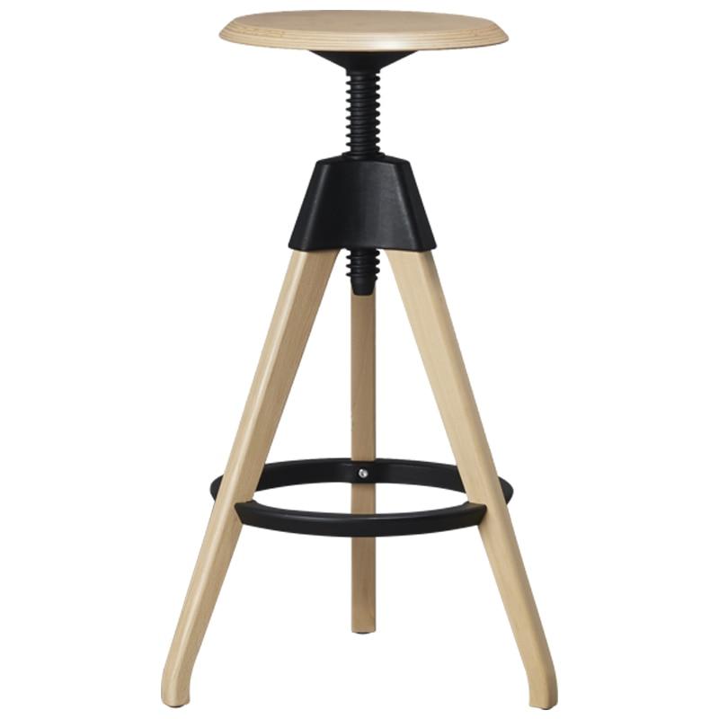 Nordic Solid Wood Lift Bar Stool Modern Household Bar Chair Creative Leisure Swivel Chair Bar Stool