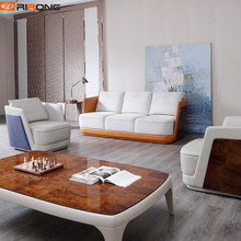 Italy Style Modern Luxury Home Study Living Room Office furniture Three seaters Office Sofa Couch