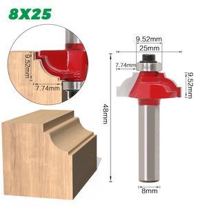 Image 2 - 1pcs 8 millimetri Gambo in legno router bit Etero fresa trimmer pulizia flush trim angolo rotondo cove box bit fresa strumenti di fresatura