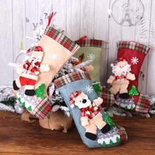 Подарки на год, сумка, Рождественский чулок, рождественские украшения для дома, Navidad, носки, Natal Tree Decoration Noel, сделай сам, поставки