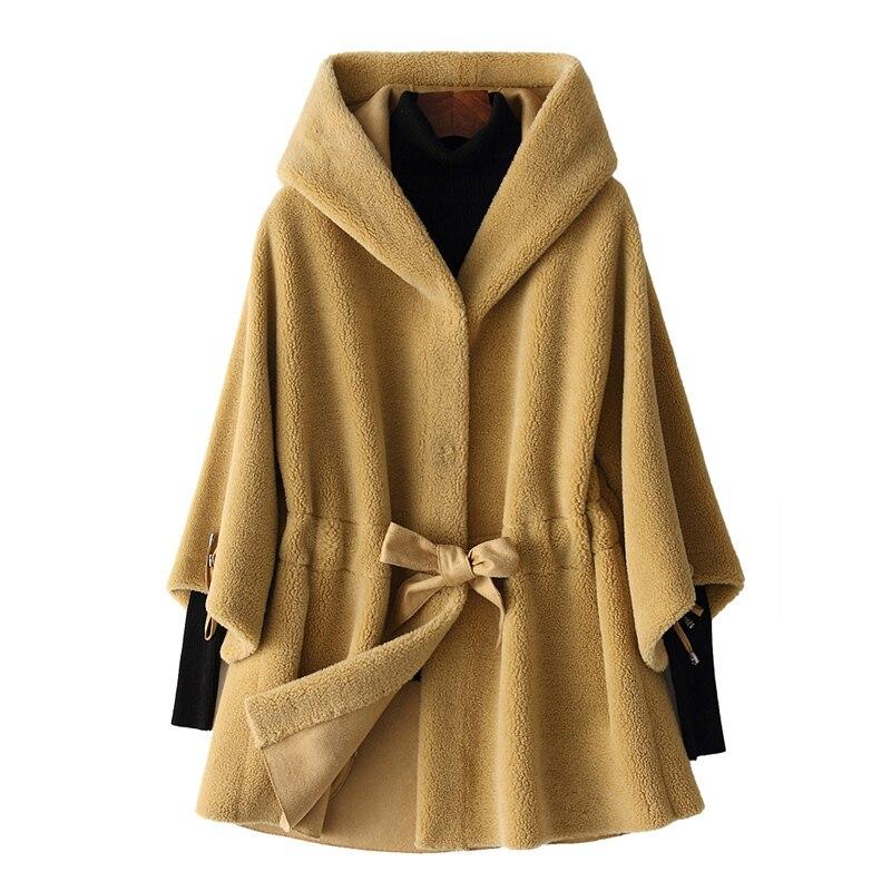 Wool Jacket Autumn Winter Coat Women Clothes 2020 Real Fur Coat Korean Vintage Sheep Shearling Suede Lining Women Tops ZT3758