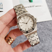 Hot Sale Luxury Womens Diamond Watches Silver Quartz Movement Lady Crystal Watch Christmas Present Gift