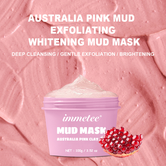 100g Australian Pink Mud Mask Deep Cleansing Mask Shrink Pore Removal Blackhead Moisturizing Peel Mask For Face Care Korean 2
