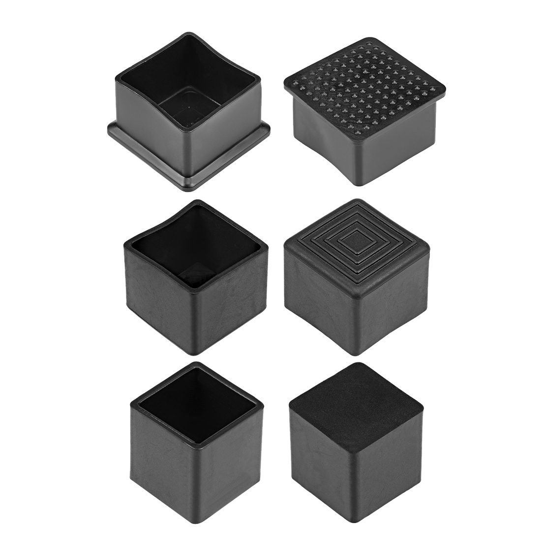 Uxcell Uxcell High Quality 10/30/100 Pcs Rubber End Caps Covers 28mm X 28mm Square Furniture Table Chair Legs