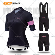 New Women Pro Cycling short sleeve Jersey Set Summer Breathable Sports Suit MTB Bike Clothing Female Bicycle Clothes Casual Wear(China)