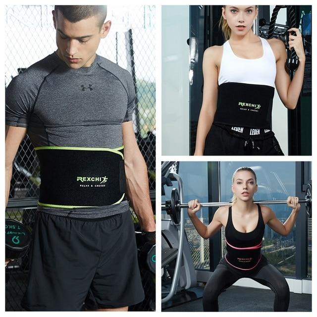 Trimmer Waist Belt Slim Sweat Band Lumbar Brace Weight Loss Support Gym Accessories Weightlifting Training Fitness New 5