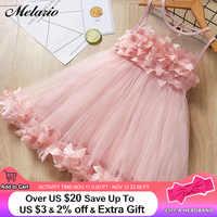 Melario filles robes 2019 douce robe de princesse bébé enfants filles vêtements robes de fête de mariage enfants vêtements rose Applique