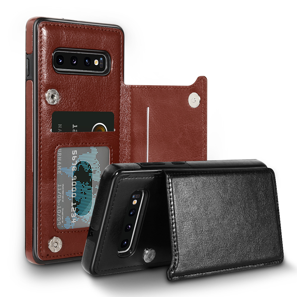 Card Slot Flip Wallet Case For Samsung A51 A71 A50 A70 A40 Note 10 Plus Leather Case For Samsung S20 Ultra S8 S9 S10 Plus Cover