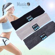 Kablosuz bluetooth müzik kulaklık kafa bandı örme uyku şapkalar Unisex spor hoparlör kulaklık egzersiz, koşu, Yoga
