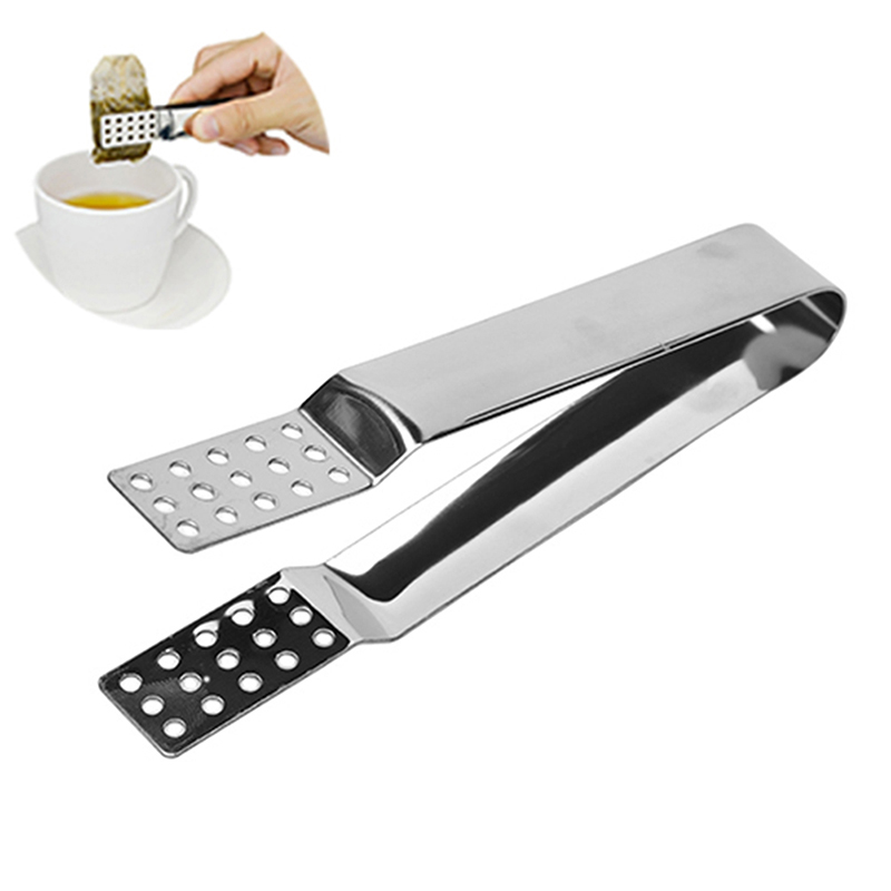 Tea Strainer Stainless Steel Teabag Squeezer Tea Bag Tongs Ice Cube Mini Tongs
