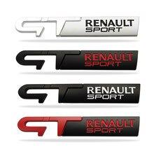 3d etiqueta de metal gt sport emblema decoração para renault gt linha megane 2 3 clio twingo espanador logan laguna 2 captur estilo do carro