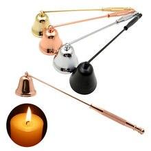 Cloche de bougie sans fumée en acier inoxydable, 4 couleurs, Kit d'outils de mise à la main pour la maison, supports d'accessoires de bougies