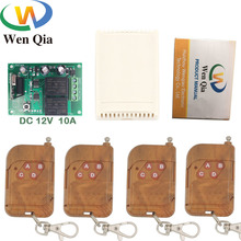 цена на 433MHz Universal Wireless Remote Control Switch DC 12V 2CH rf Relay receiver and Transmitter Control Garage/gate/motor/door