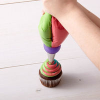 3 Holes Tri color Cream Coupler Cake Decorating Tools Icing Piping Pastry Bag Nozzle Converter,,Cupcake Fondant Cookie 3 Color