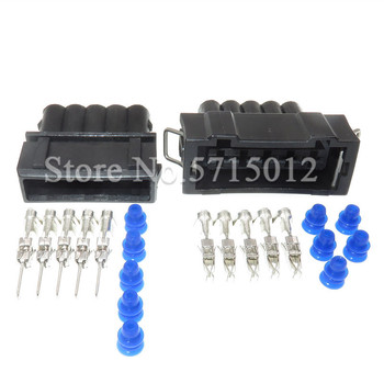 5 Hole 357 972 755 357972755 Waterproof Auto Car Connector Female Male Sealed Sockets For VW image