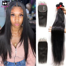 Lace Closure Bundles Remy-Hair Rucycat Brazilian 6x6 Inchs 5x5 with And 30
