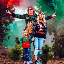 Family Look Sweatshirt Contrast Color Hoodies Santa Matching Outfits Daddy Mommy And Me Christmas Sweatshirts