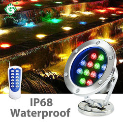 12V 24V RGB LED światło podwodne wodoodporna IP68 3W 6W 12W 36W fontanna staw basen lampa basen ogrodowa oświetlenie imprezowe