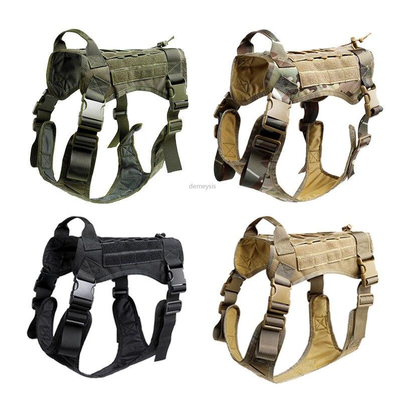 Arnés táctico para perros de policía K9 con servicio de bolsos tácticos chaleco Multicam para caza tropical Swat Molle chaleco para mascotas LYZ, tácticas SWAT, escudo, juguetes para juego de callos