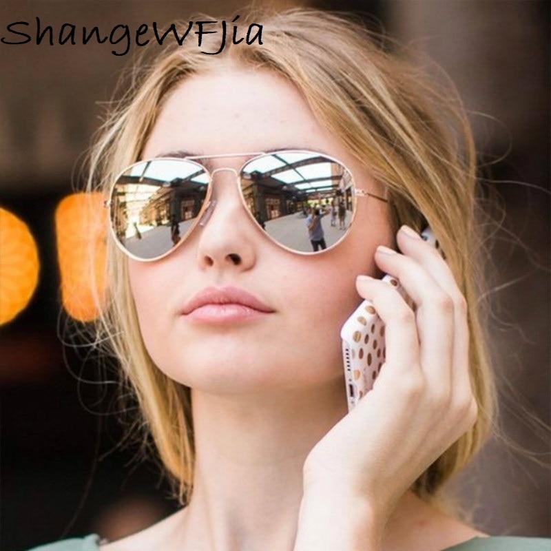 2020 пилот авиации солнцезащитные очки мужские оттенки ретро классические Серебряные Солнцезащитные очки женские мужские роскошные брендов...