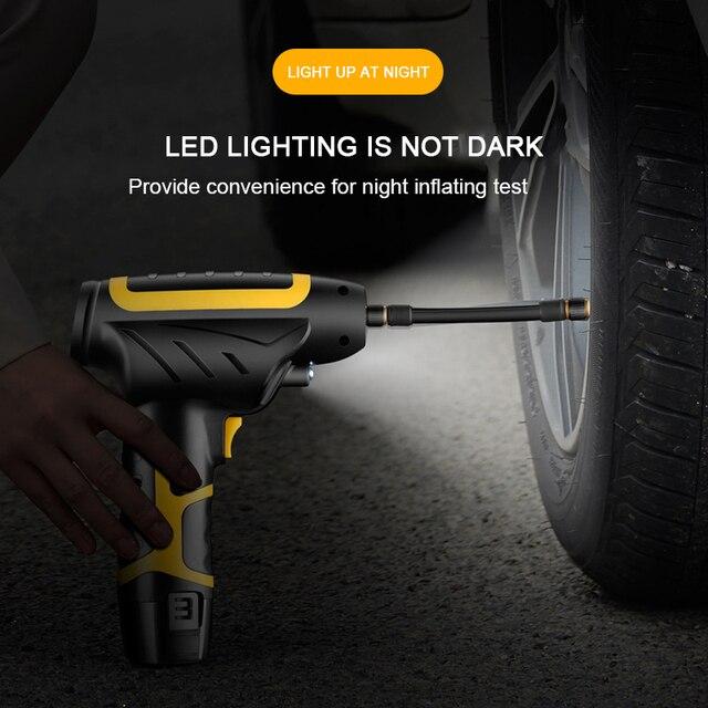 Pompe de gonflage électrique Portable 120W, numérique, pour pneu de voiture, compresseur dair, pour moto, voiture, camion