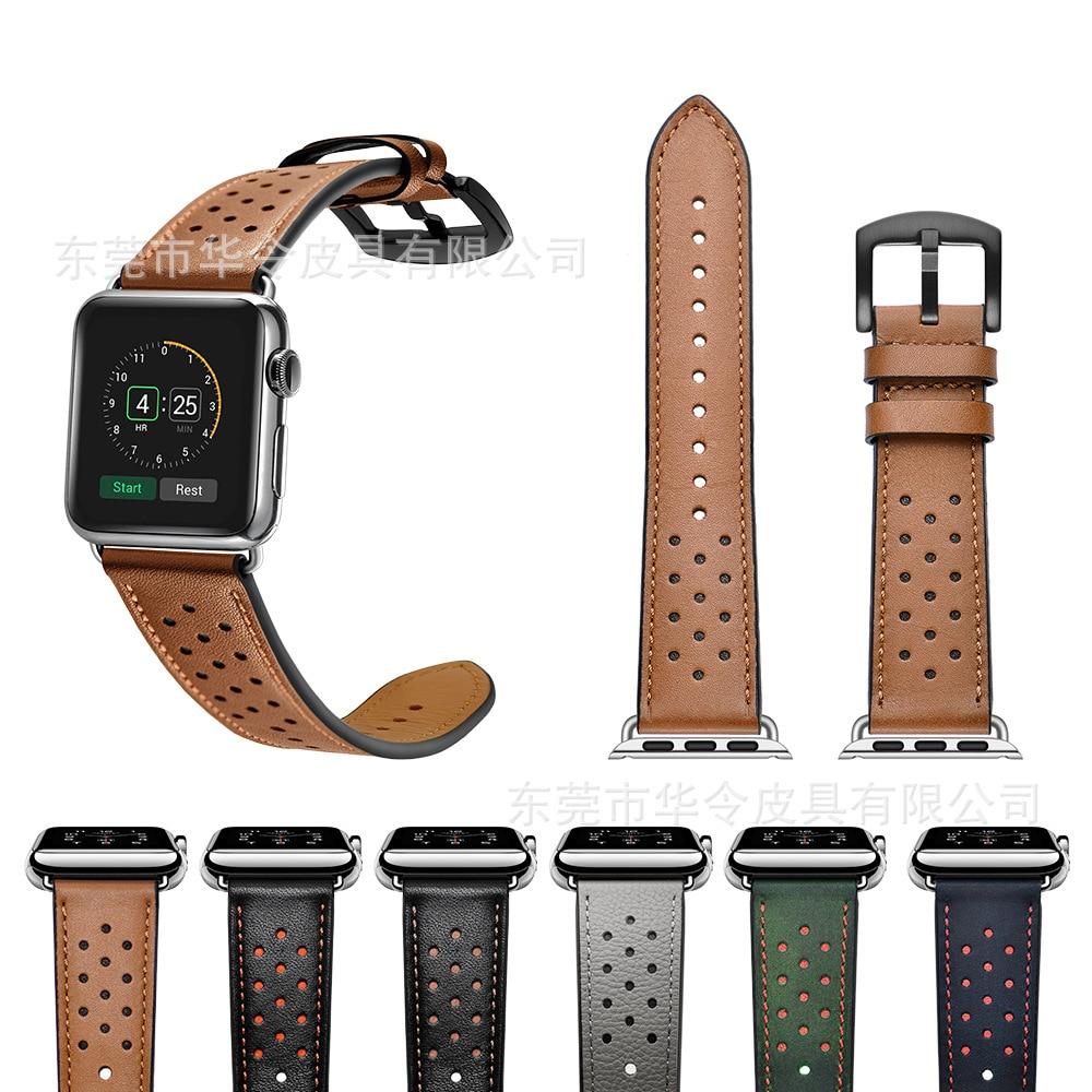 For Apple Watch Strap APPLE Watch 1/2/3/4 Genuine Leather Horse Leather IWatch Watch Strap