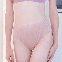 3pcs 10% Silk 90% Natural Lyocell Women's Panties Seamless Briefs Women Underpants Young Woman Knickers Ladies Underpanties