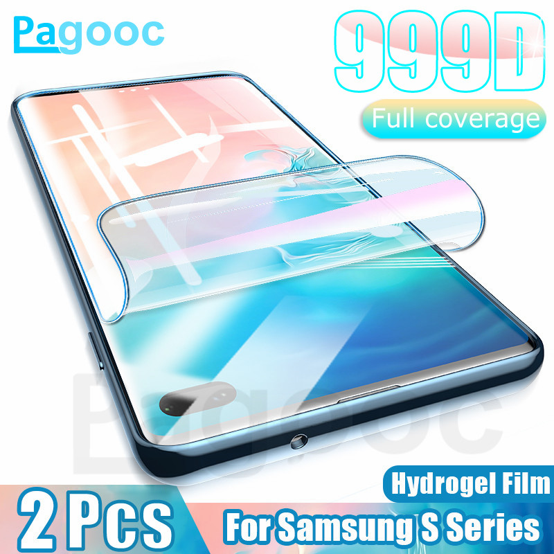 2Pcs 999D Soft Hydrogel Film Not Glass On For Samsung Galaxy Note 10 8 9 S7 S8 S9 S10 Plus S10E Screen Protector Protective Film